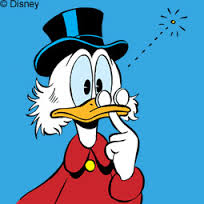 Donald Duck überlegt